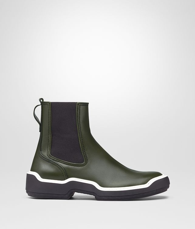 BOTTEGA VENETA MOSS CALF VOORTREKKING STRIPE ANKLE BOOT Boots and ankle boots Man fp