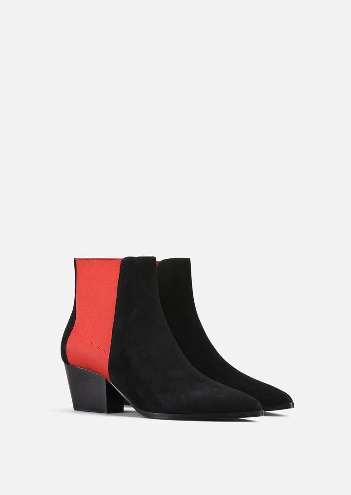 Emporio ArmaniELASTIC LOGO - Classic ankle boots - black/white bY8PdBQd
