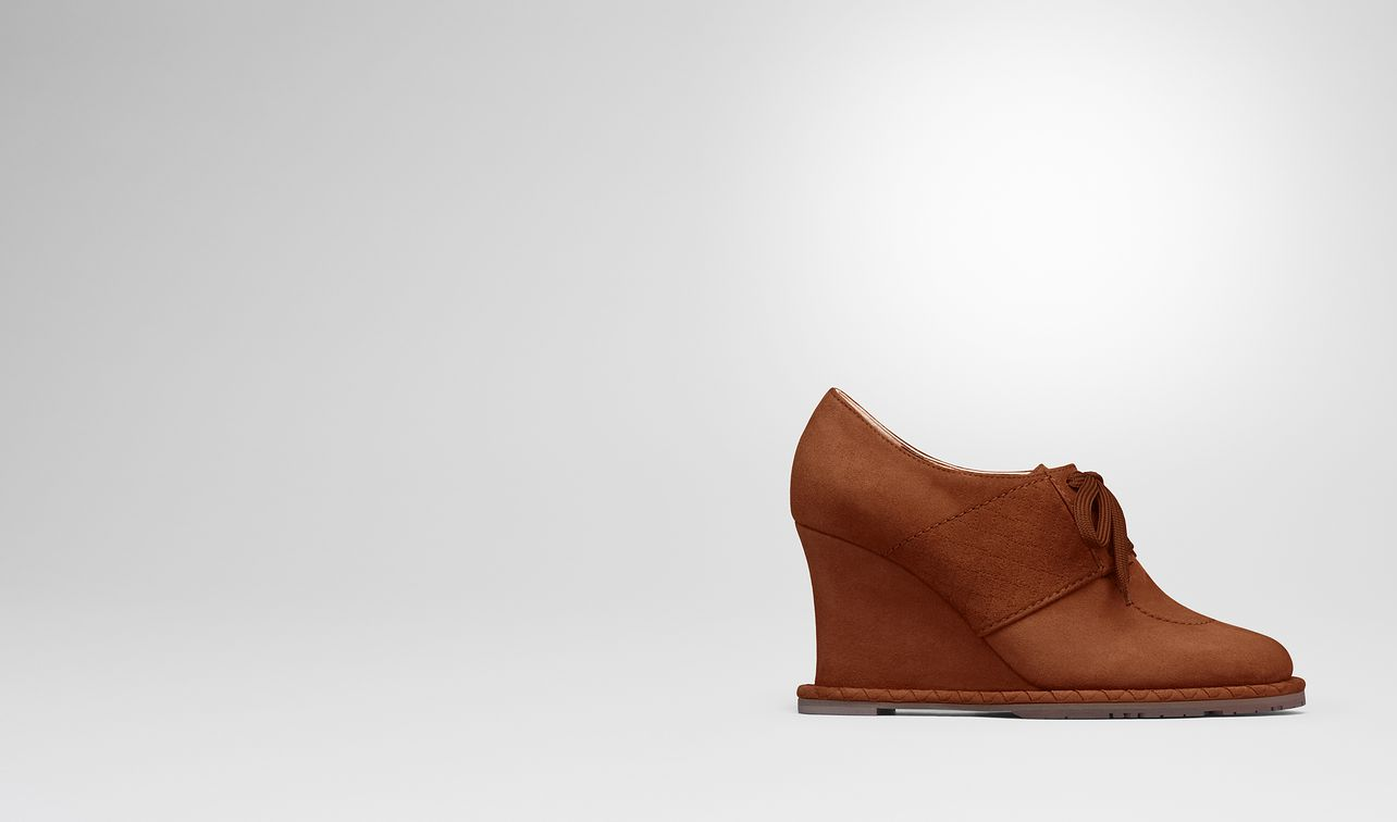 leather suede wedge landing