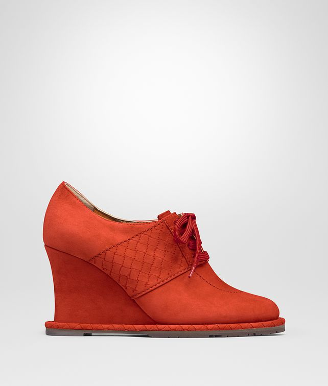 BOTTEGA VENETA TERRACOTTA SUEDE WEDGE Boots and ankle boots D fp
