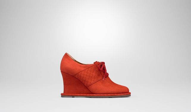 TERRACOTTA SUEDE WEDGE