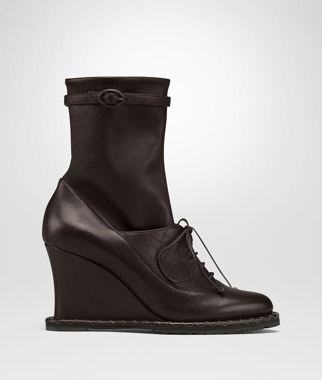 BOTTEGA VENETA ESPRESSO CALF WEDGE Boots and ankle boots D fp