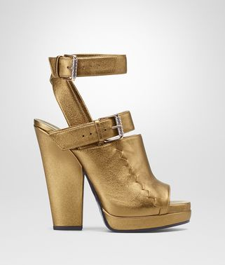 ORO ANTICO NAPPA LAMÉ LEATHER SANDAL