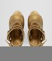 BOTTEGA VENETA ORO ANTICO NAPPA LAMÉ LEATHER SANDAL Pump or Sandal Woman ep
