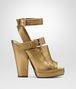 BOTTEGA VENETA ORO ANTICO NAPPA LAMÉ LEATHER SANDAL Pump or Sandal Woman fp