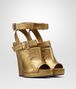 BOTTEGA VENETA ORO ANTICO NAPPA LAMÉ LEATHER SANDAL Pump or Sandal Woman rp