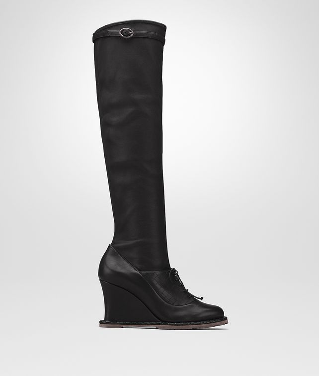 BOTTEGA VENETA NERO CALF WEDGE Boots and ankle boots D fp