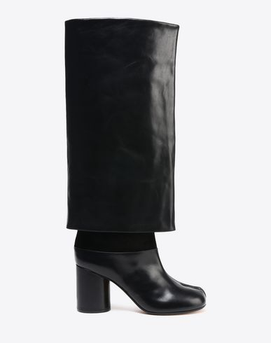 MAISON MARGIELA Boots D Leather trompe-l'œil Tabi boots f