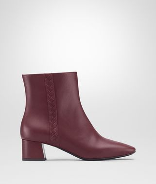 CHERBOURG ANKLE BOOT IN BAROLO CALF, INTRECCIATO DETAILS