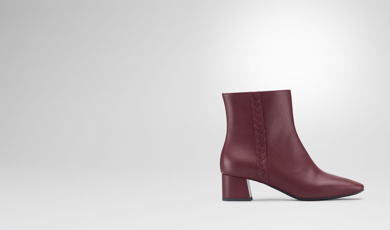 cherbourg ankle boot in barolo calf, intrecciato details landing