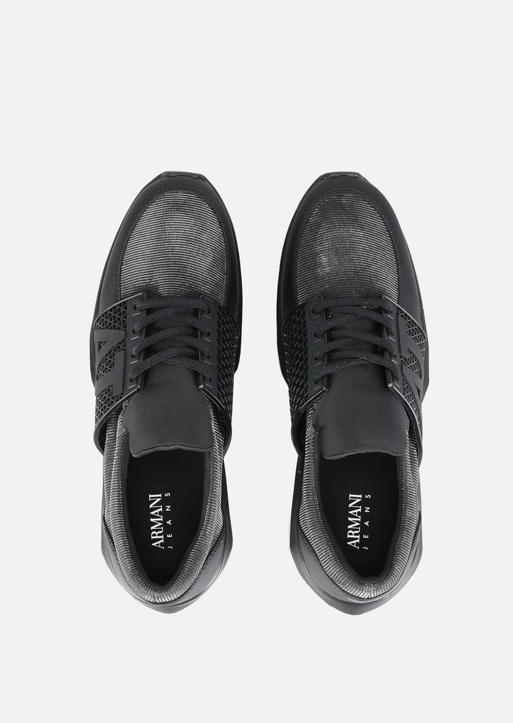 80dbcd3b53 SNEAKERS WITH PERFORATED DETAILS | Woman | Emporio Armani