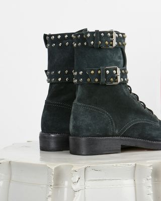 ISABEL MARANT BOOTS D Teylon Ranger style studded leather ankle boots d