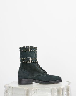 Teylon Ranger style studded leather ankle boots