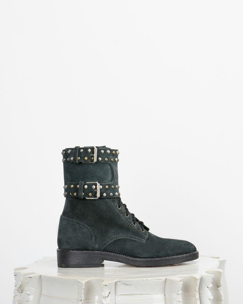 Teylon Ranger style studded leather ankle boots ISABEL MARANT
