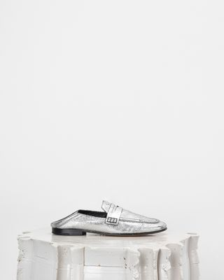 ISABEL MARANT FLATS Woman FEZZY silver loafers d