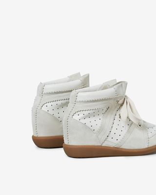 ISABEL MARANT SNEAKERS Woman BOBBY suede wedge heel trainers d