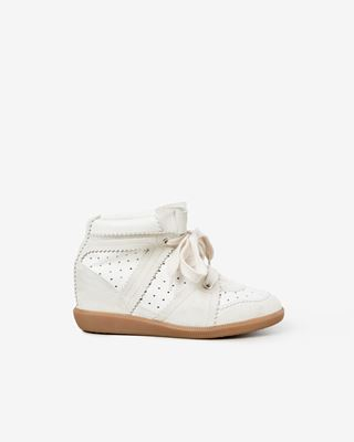 BOBBY suede wedge heel trainers