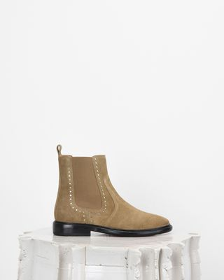 ISABEL MARANT BOOTS Woman CHELAYA perforated suede ankle boots d