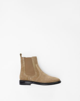 CHELAYA perforated suede ankle boots