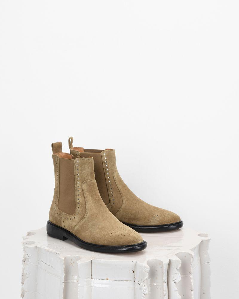 CHELAYA 镂空绒面革踝靴 ISABEL MARANT