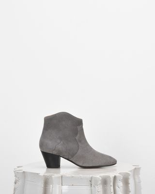 ISABEL MARANT BOOTS D DICKER suede mid-heel ankle boots d