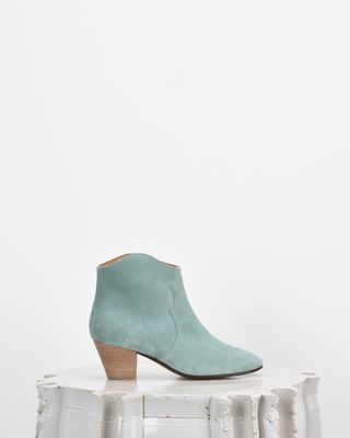 ISABEL MARANT BOOTS Woman DICKER suede mid-heel ankle boots d