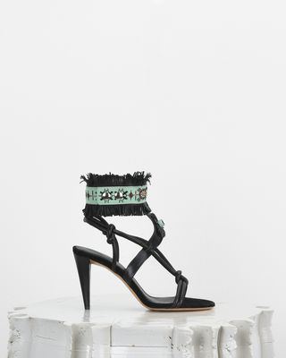 ISABEL MARANT SANDALS Woman ABRILY fringed high heels d