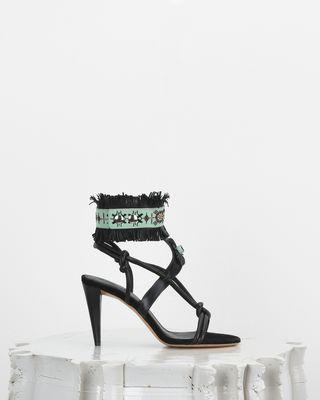 ISABEL MARANT 凉鞋 女士 ABRILY 流苏装饰高跟鞋 d