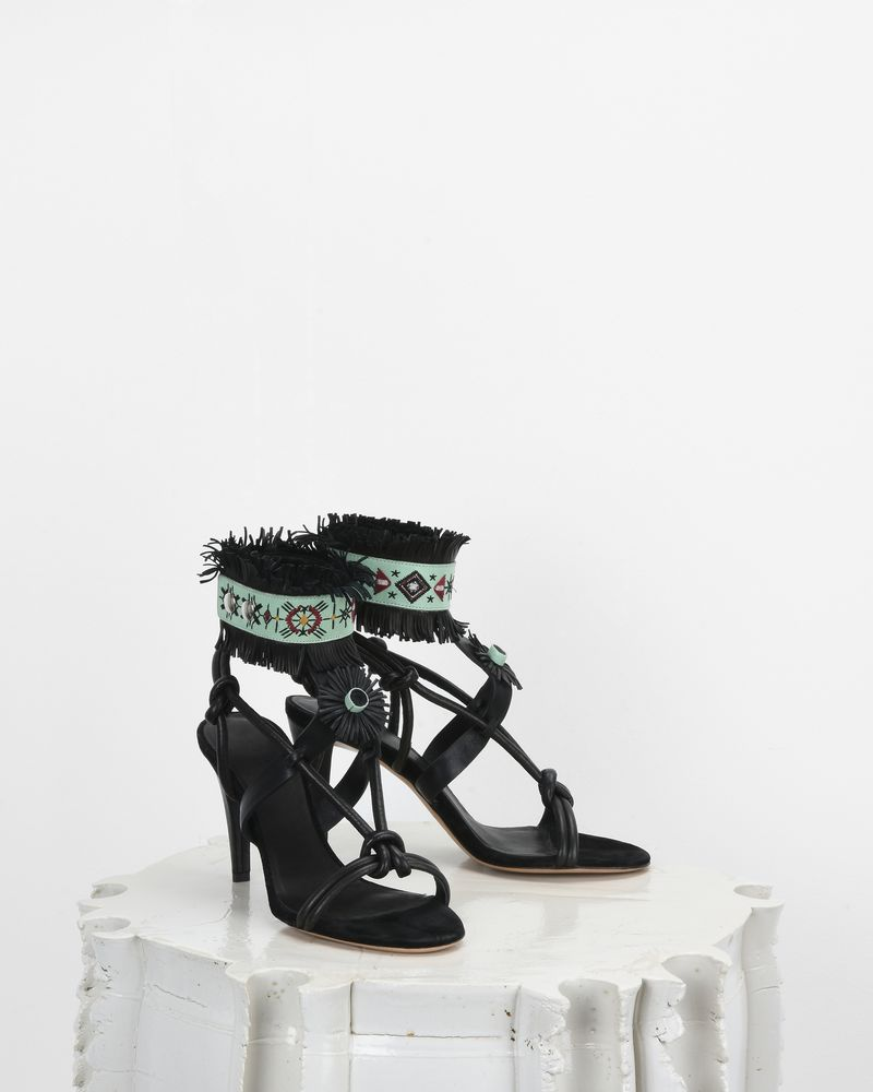 ABRILY fringed high heels ISABEL MARANT