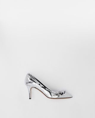 POWEEN silver high heels