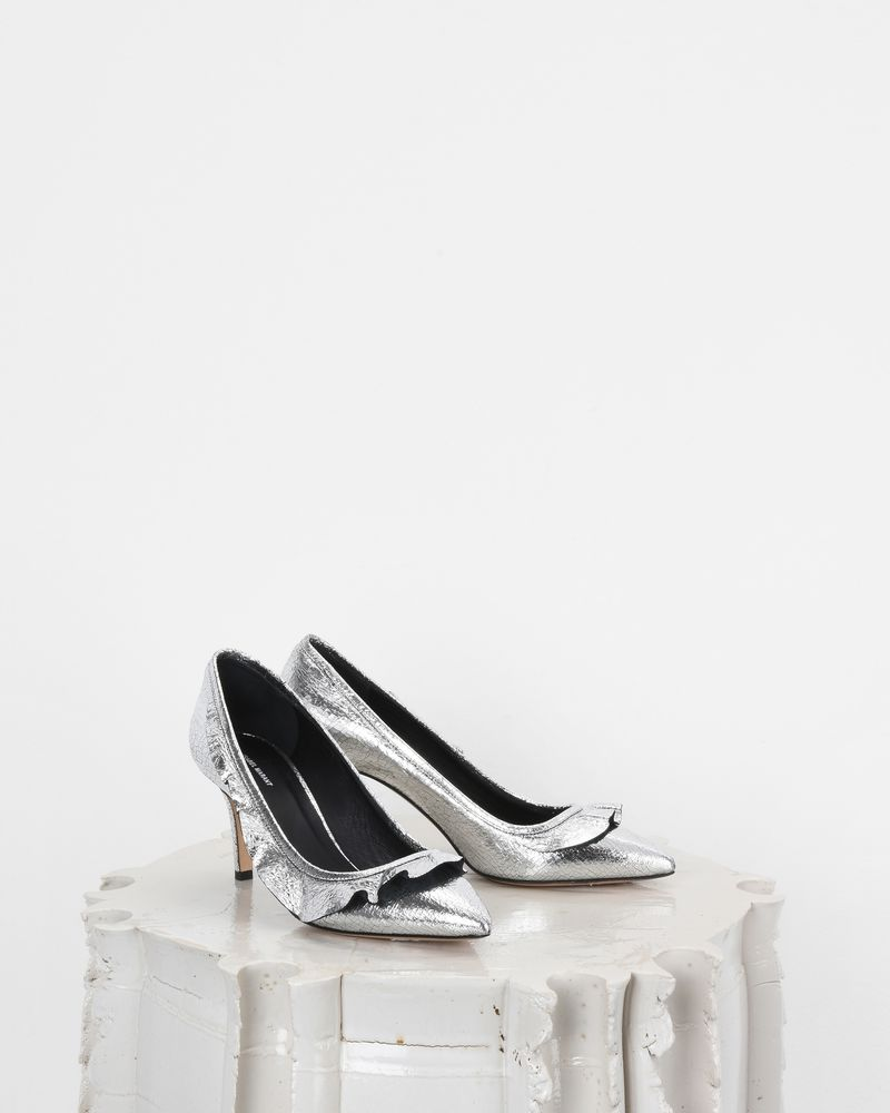 POWEEN silver high heels ISABEL MARANT