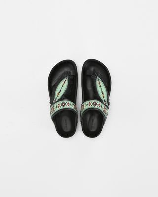 EBANN embroidered sandals
