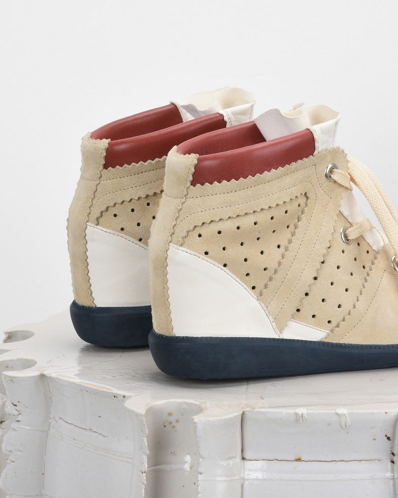 BETTY wedge heel lace up trainers ISABEL MARANT