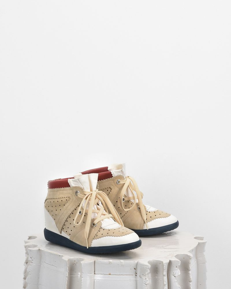 BETTY wedge heel lace-up sneakers ISABEL MARANT