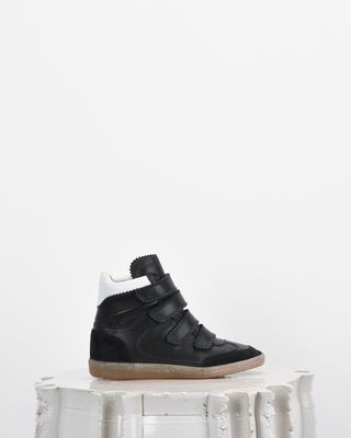 ISABEL MARANT SNEAKERS Woman BILSY wedge heel Velcro trainers d