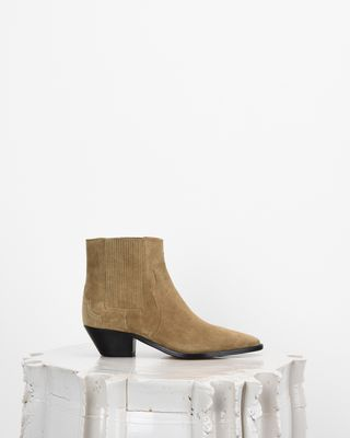 ISABEL MARANT BOOTS Woman DERLYN suede ankle boots d