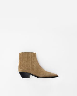 DERLYN suede ankle boots