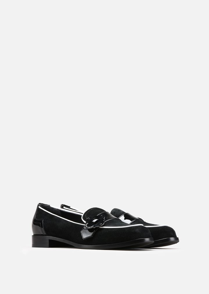 ... EMPORIO ARMANI LOAFERS IN LEATHER, SPLIT AND PATENT Moccasins Woman r  ...