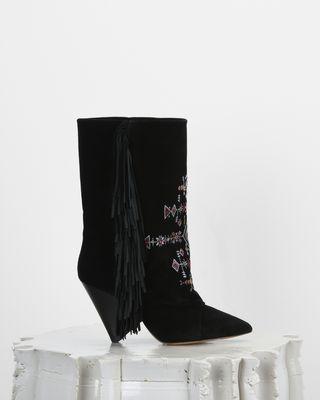 ISABEL MARANT BOOTS Woman LESTEN suede boots d