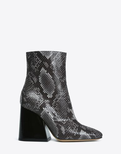 MAISON MARGIELA Python print flared heel ankle boots Ankle boots D f