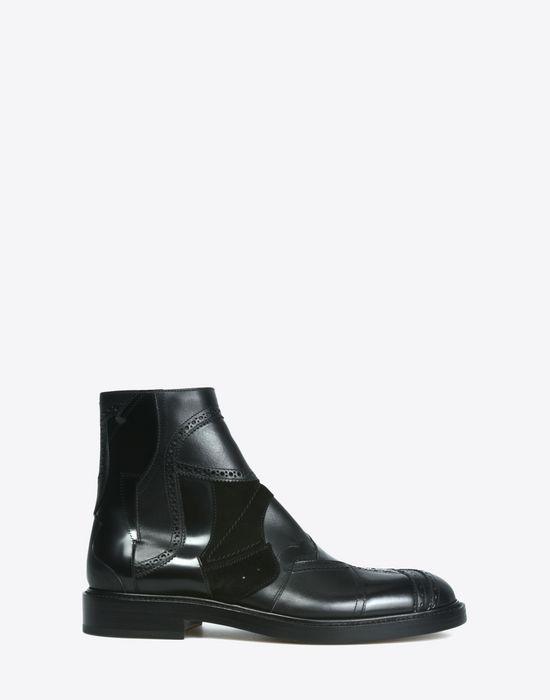 6815e6a0f333c Maison Margiela Patchwork Ankle Boots Men   Maison Margiela Store