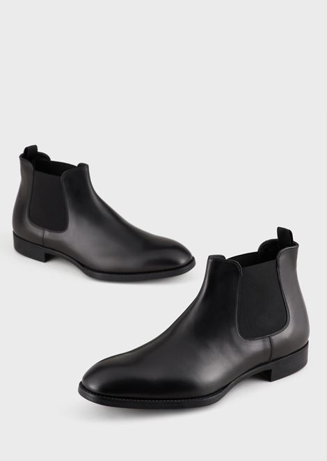 LEATHER BEATLE BOOTS