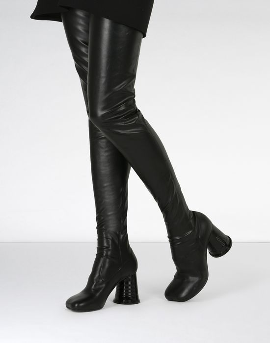 5fa6563d2fd MM6 MAISON MARGIELA Thigh-high boots with cup heels Boots       pickupInStoreShipping info