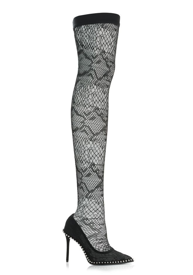 ALEXANDER WANG LYRA LACE THIGH HIGH BOOT 中跟鞋 Adult 12_n_f