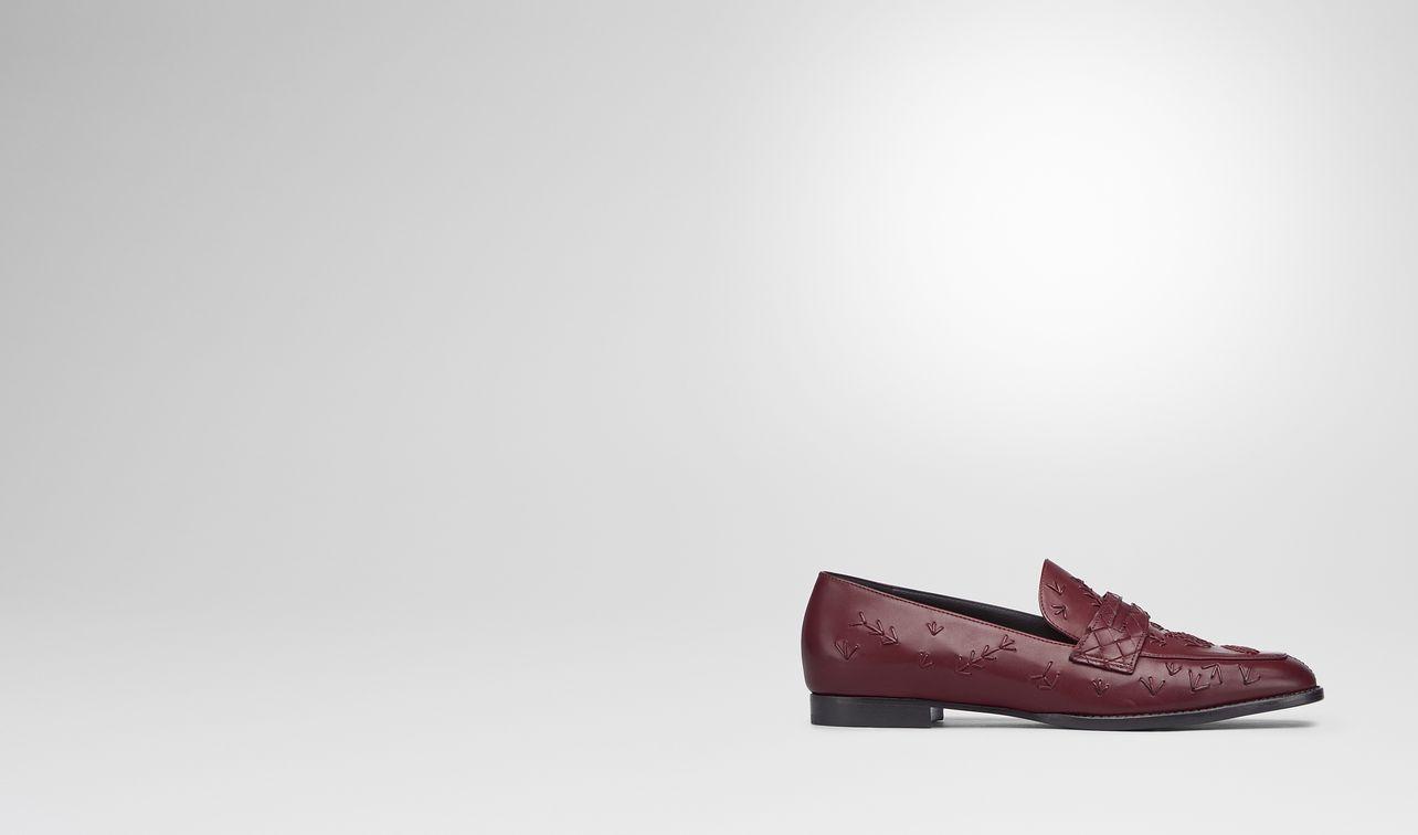 bagley's mocassin in barolo calf, intrecciato details landing