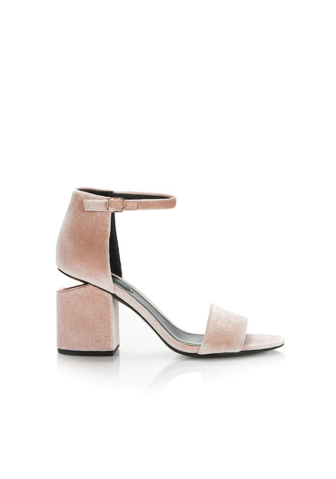 ALEXANDER WANG new-arrivals-shoes-woman ABBY VELVET SANDAL WITH RHODIUM