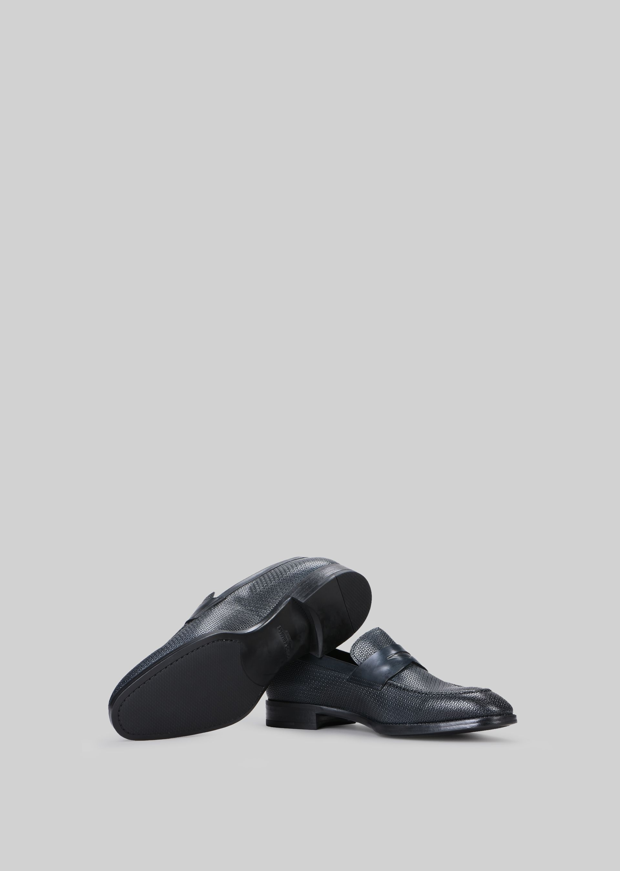 GIORGIO ARMANI LEATHER LOAFERS Loafers U a