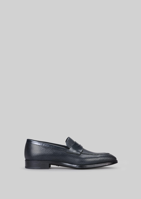 GIORGIO ARMANI LEATHER LOAFERS Loafers U f