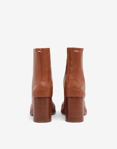 SHOES Tabi calfskin boots Brown