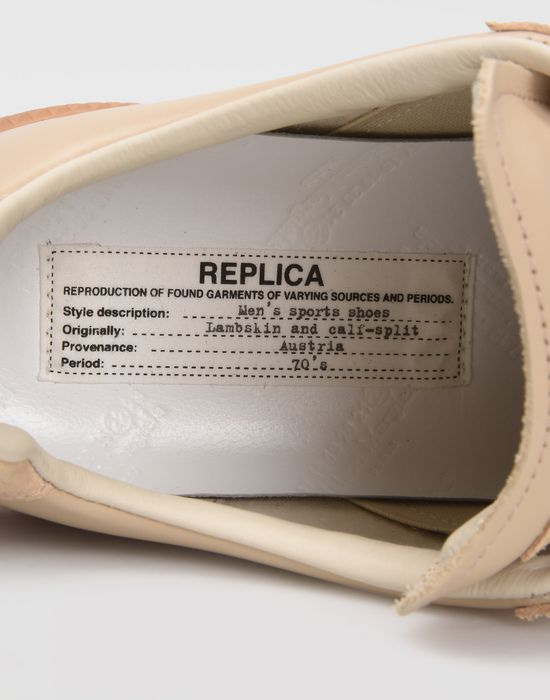MAISON MARGIELA Calfskin and suede Replica sneakers Sneakers [*** pickupInStoreShipping_info ***] b